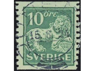 Sweden. Facit 144A used , 10 öre green, type I. EXCELLENT cancellation JUNSELE 15.8.24. …
