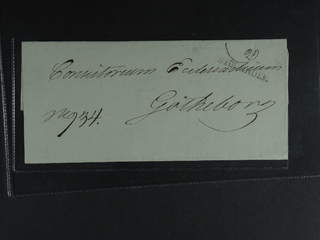Sweden. A county. STOCKHOLM, straight postmark. Type 14 on cover sent to Gothenburg.