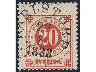 Sweden. Facit 46, F county. KARLSTORP 22.8.1888.