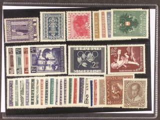 Austria. ★★ 1908–52. All different, e.g. Mi153, 394, 504, 937–40, 960–63, 969, 972. …