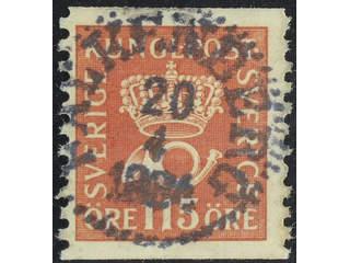 Sweden. Facit 170 used , 115 öre red-brown. EXCELLENT cancellation FALKENBERG 20.4.1934. …