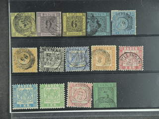 Germany Baden. Used 1851–1868. All different, e.g. Mi 3-4, 7-8, 10-11, 17, 19-20, and 25 …