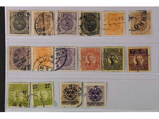 Sweden. Used 1911–1916. Differing watermarks. All different, e.g. F 71cx+cxz, 73-74cxz, …