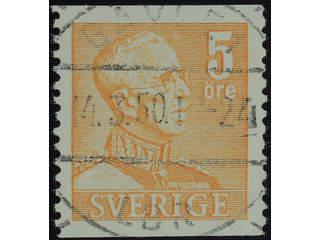 Sweden. Facit 272 used , 1948 Gustaf V large numerals 5 öre orange. EXCELLENT …