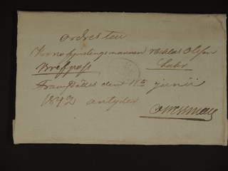 """Sweden. Military prephilately. """"Ordres"""" dated """"Dahlsjö den 11Junii 1842"""" sent as …"""
