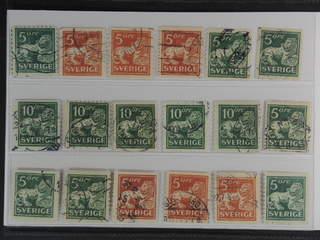 Sweden. Used 1920–34. Standing Lion, all different, t.ex. F 140Ccx, 141bz, 142Abz+Ecc, …