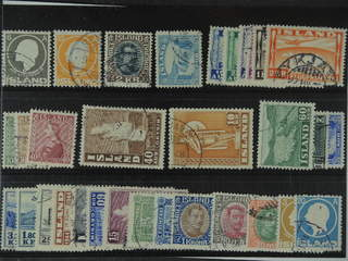 Iceland. Used 1911-52. All different, e.g. F 111, 113, 156, 199, 204-09, 218-20, 230, …