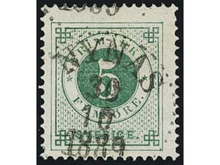Sweden. Facit 43, B county. NYNÄS 30.10.1889. Superb cancellation with small part of …