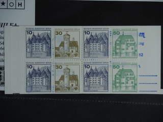 Germany GFR (BRD). Booklet Michel MH11dd ★★ , 1965 Buildings 10 × 20 pf red. EUR150