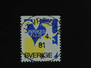 Sweden. Facit 1122B used , 1980 Discount stamp INRIKES POST blue/yellow. EXCELLENT …
