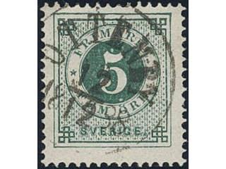 Sweden. Facit 43, H county. OTTENBY 12.12.1888. Superb cancellation.