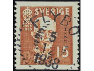 Sweden. Facit 267A used , 1938 80th Birthday of King Gustaf V 15 öre brown. EXCELLENT …