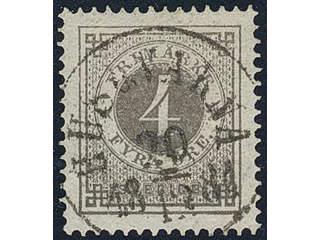 Sweden. Facit 29 used , 4 öre grey. EXCELLENT cancellation HUSQVARNA 20.12.1881.