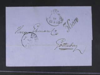 Sweden. Postage due mail. Postage due mark 36 ÖRE on cover sent from KIØBENHAVN K B 17.3 …