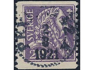 Sweden. Facit 153cbz used , 1921 Gustaf Vasa 20 öre light violet with watermark KPV. …