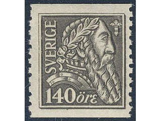 Sweden. Facit 155b ★★ , 1921 Gustaf Vasa 140 öre olivish grey-black on soft paper.
