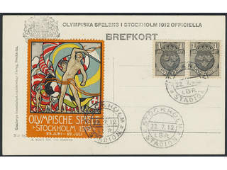 Thematics Olympics. Postcards covers. Olympic Games in Stockholm 1912. Unadressed …