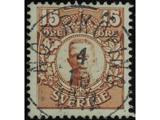 Sweden. Facit 84 used , 15 öre brown. EXCELLENT cancellation NORRKÖPING 4.10.1911.