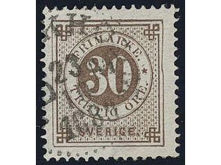 Sweden. Facit 47v used , 30 öre wuth the sought after variety indented frame at right. …