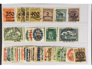 Germany Reich. Used 1922–30. All different, e.g. Mi 296-300, 330A(echtstamp), …