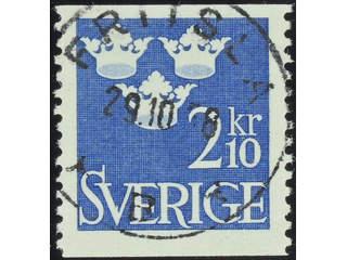 Sweden. Facit 310 used , 1954 Three Crowns 2.10 Kr blue-ultramarine. EXCELLENT …