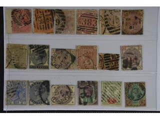 Britain. Used 1855-1887. All different, e.g. Mi 13z, 24, 40-41, 47, 58, 61-62, 74,. …