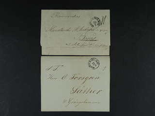 Sweden. A county. STOCKHOLM 1839–1841, arc postmark. Type 10 on four covers, of which on …