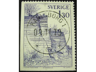 Sweden. Facit 1043 used , 1978 Travels of Linne´ 1.30 Kr blue, imperf at bottom and …