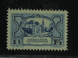 Liechtenstein. Michel 71 ★ , 1925 Different designs 1½ Fr black-ultramarine. EUR 360 if …