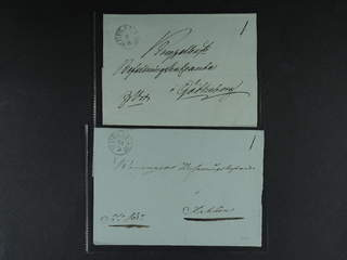 Sweden. C county. UPSALA 1831–1833, arc postmark. Type 1 on two covers sent to Falun and …