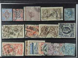 Britain. Used 1902-39. All different, e.g. Mi 112-13, 115, 141 I+III, 142 III, 164, …