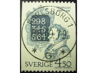Sweden. Facit 1091 used , 1979 Johan Olof Wallin 4.50 Kr blue-grey. EXCELLENT …