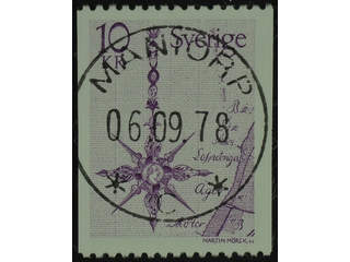 Sweden. Facit 1054 used , 1978 Northern Arrow 10 Kr lilac (1). EXCELLENT cancellation …