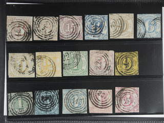 Germany Thurn und Taxis. Used 1852–1866. All different, e.g. Mi 17, 22, 24, 33-34, …