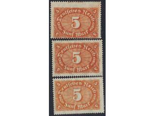 Germany Reich. Michel 194c ★★ , 1922 Different designs 5 M brown-orange and red-orange …