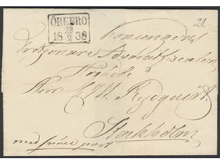 """Sweden. General mail. Cover with notation """"Snällpost"""" (express mail, P: +600:-). Sent …"""