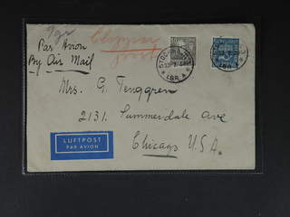 Sweden. Air mail cover Facit 167, 323 , 50+90 öre on air mail cover sent from STOCKHOLM …