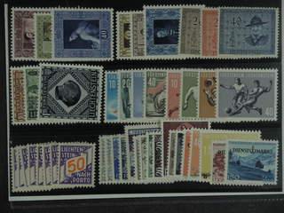 Liechtenstein. ★ 1952–58. All different, e.g. Mi 306-08, 312-14, 316-17, 319-25, 334-37, …