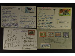 Samoa. Accumulation covers 1935–1989. One registered cover, one postcard and FDC's. Good …