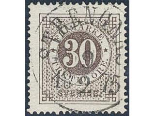 Sweden. Facit 25f used , 30 öre blackish brown, smooth or granulous print. EXCELLENT …