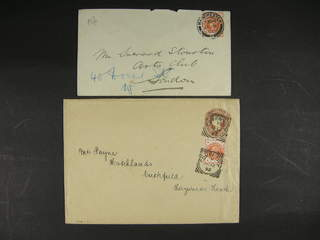 Britain. Michel 86 cover , 1887 Queen Victoria Jubilee Issue ½ d vermilion on two covers …
