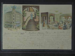 "Germany Reich. PostcardBerlin, ""Kaffee Klose"", Gruss aus styled card sent from BERLIN, W …"