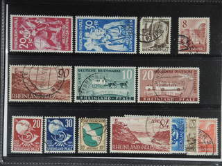 Germany French Zone. Used 1948–49. Allgemein 5, Reinland, all different, e.g. Mi 30-31, …