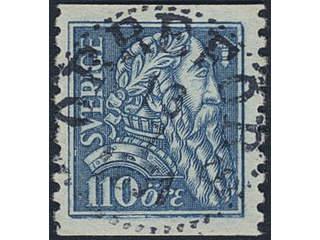 Sweden. Facit 154 used , 1921 Gustaf Vasa 110 öre blue. EXCELLENT cancellation ORREFORS …