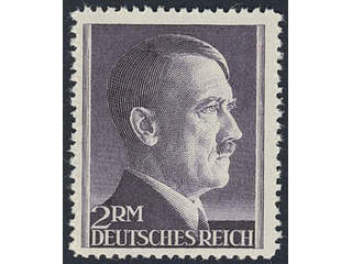 Germany Reich. Michel 800A wx ★★ , 1942 Adolf Hitler 2 RM black-violet perf 12½. Fresh …