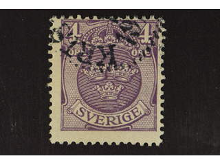 Sweden. Facit 70vm used , 1910 coat of arms 4ö with inverted watermark! Off-centered but …