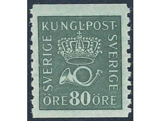 Sweden. Facit 165bz ** , 80 öre blue-green with watermark KPV. Superb.