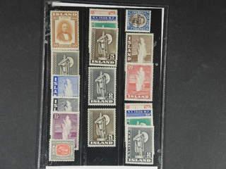 Iceland. ★★ 1907–44. All different, e.g. Mi 163, 228, 230, 252-58, 261, 263-64, 273. …