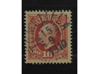 Sweden. Facit 54 used , 1891 Oscar II 10 öre red. Superb cancellation TOMELILLA …