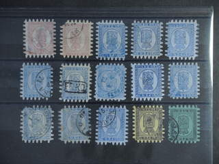 Finland. Used. Small lot large toothed stamps, mostly 20 k. Somewhat mixed quality. (15)